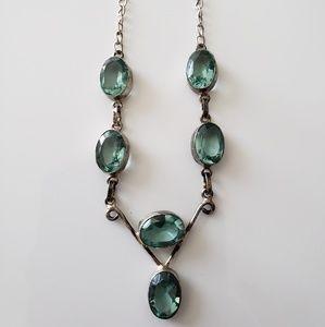 VINTAGE ☆ Gemstone Necklace  ~ GORGEOUS!